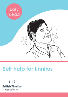Illustration of front cover of Easy Read Self help for tinnitus leaflet