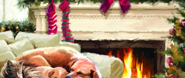 Christmas Cards - By the Fireside