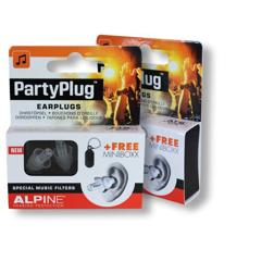 Two pack of Alpine PartyPlug Earplugs on a white surface
