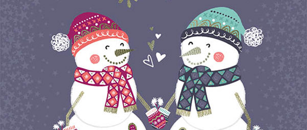 Christmas Cards - Mr & Mrs Snowman