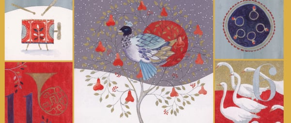 Christmas Cards - Partridge in a Pear Tree