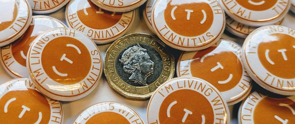 Tinnitus Badge - Orange